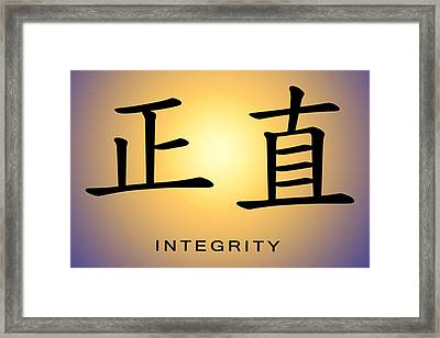 Integrity Framed Print by Linda Neal