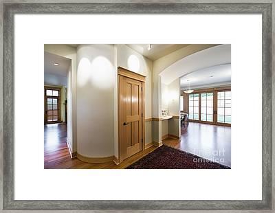 Interior Door In Large Home Framed Print by Andersen Ross