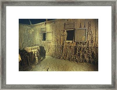 Interior Of A First Class Cabin Framed Print