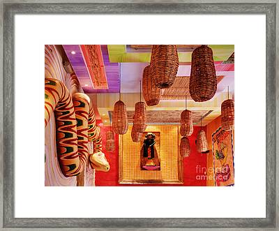 Interior Of Art-filled Room Framed Print by Jeremy Woodhouse