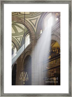 Interior Of Mexico City Metropolitan Cathedral Framed Print