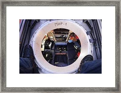 Interior Of Mir-1 Submersible Framed Print