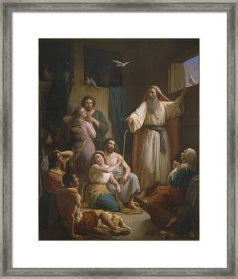 Interior Of Noah's Ark Framed Print by Joaquim Ramirez