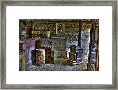 Interior Of Old-west Chinese Store - Nevada City Montana Framed Print by Daniel Hagerman