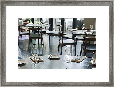 Interior Of Restaurant Framed Print by Shannon Fagan