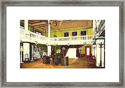 Interior Of The Acacia Club In Williamsport Pa In 1910. Framed Print by Dwight Goss