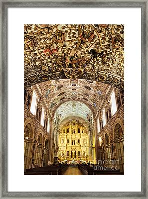 Interior Of The Church Of Santo Domingo Framed Print by Jeremy Woodhouse