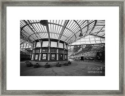 Interior Of Weymss Bay Railway Station Scotland Uk Framed Print by Joe Fox