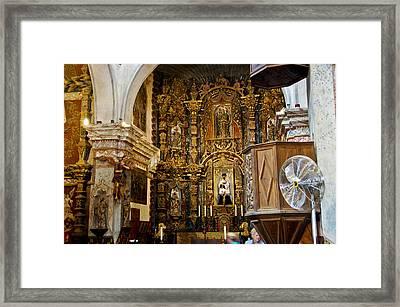 Interior San Xavier Mission Framed Print