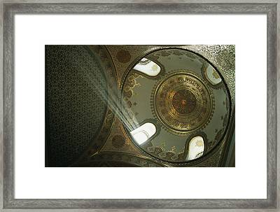Interior View Of An Ornate Windowed Framed Print by Tim Laman