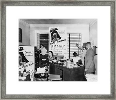 Interior View Of Naacp Branch Office Framed Print by Everett