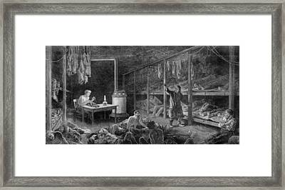 Interior View Of New York City Lodging Framed Print