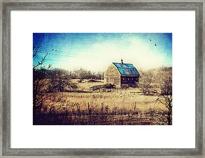 Interlude In Blue Framed Print by Laura George