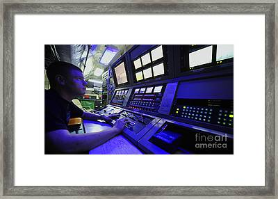 Internal Communications Electrician Framed Print