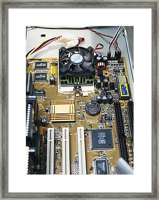 Internal Parts Of A Personal Computer Framed Print