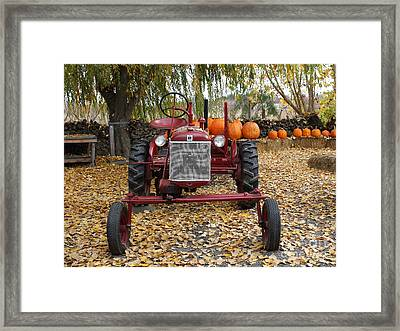 International Harvester Mccormick Farmall Cub Farm Tractor . 7d10305-2 Framed Print by Wingsdomain Art and Photography