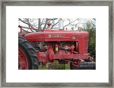 International Harvester Mccormick Farmall Farm Tractor . 7d10321 Framed Print by Wingsdomain Art and Photography