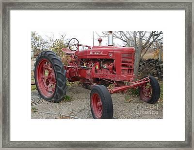 International Harvester Mccormick Farmall Farm Tractor . 7d10322 Framed Print by Wingsdomain Art and Photography