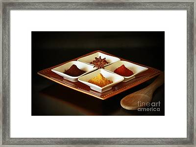 International Kitchen Spices Framed Print by Inspired Nature Photography Fine Art Photography