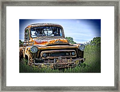 International Truck Alone And Rusting Framed Print by William Havle