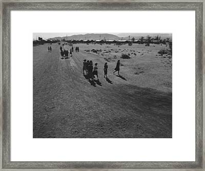 Interned Japanese Americans, Mostly Framed Print by Everett