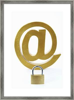 Internet Security Framed Print by Sami Sarkis
