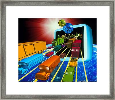 Internet Traffic Framed Print by Victor Habbick Visions