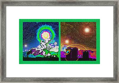 Interplanetary Conceptual Diptych Framed Print by Steve Ohlsen