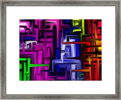 Interplex Framed Print