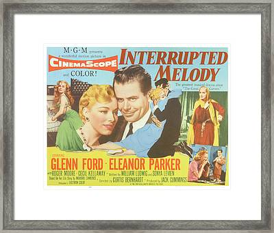 Interrupted Melody, Center From Left Framed Print by Everett