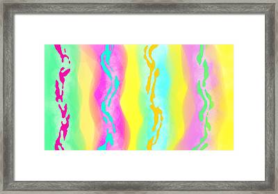 Intersecction Framed Print by Rosana Ortiz