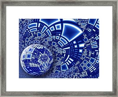 Interstellar City Framed Print by Pam Blackstone