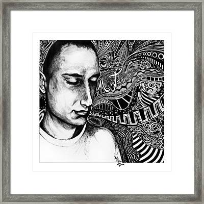 Intertwined Framed Print by Carrie Jackson