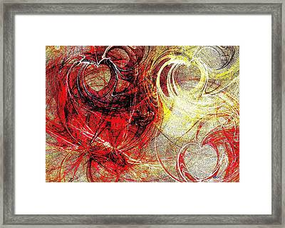 Intertwining Hearts-rg Framed Print by Maria Urso
