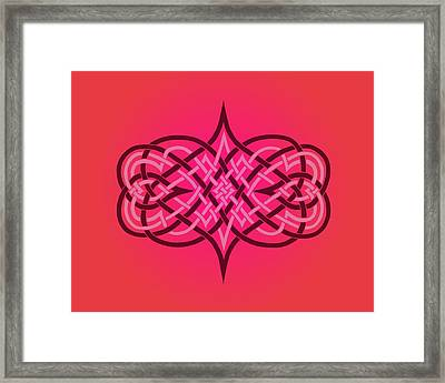 Interwoven Hearts Framed Print by Diana Morningstar