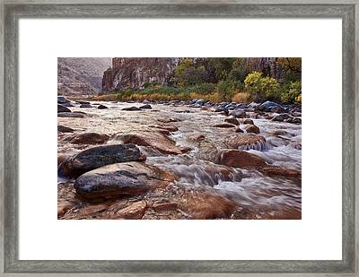 Intimate Waters On The Salt River Framed Print by Dave Dilli
