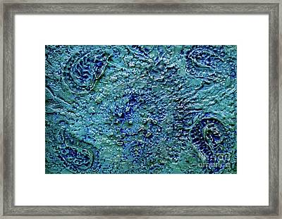 Framed Print featuring the painting Into Blue by D Renee Wilson