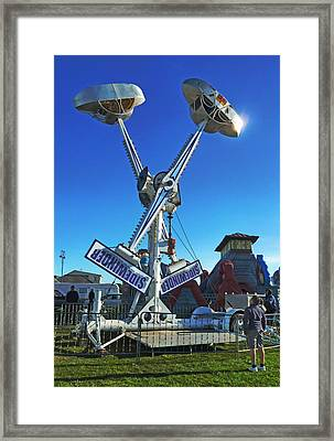 Framed Print featuring the photograph Into The Blue by Steve Taylor