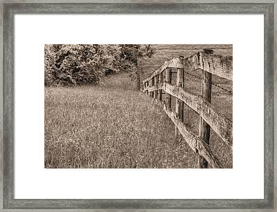 Into The Distance Bw Framed Print by JC Findley