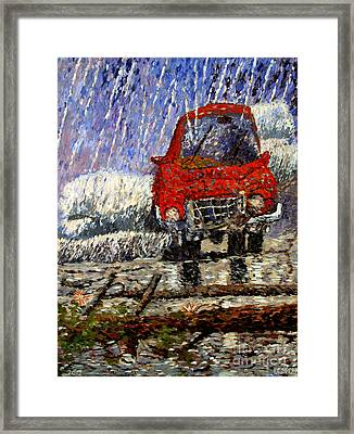 Into The Epochal Storm Framed Print by Charlie Spear