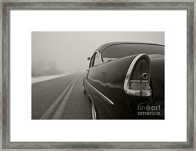 Into The Fog Framed Print by Dennis Hedberg