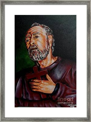 Into The Heart Of Hope Framed Print by Jay Anthony Gonzales