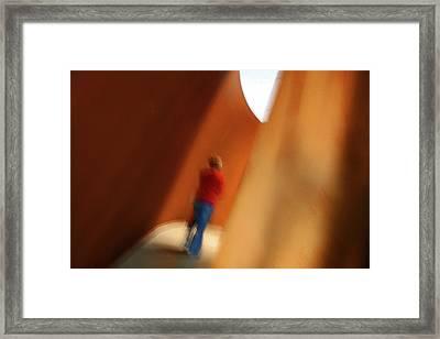 Into The Light Framed Print by James Mancini Heath