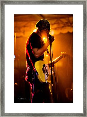 Into The Mic Framed Print by Christopher Holmes