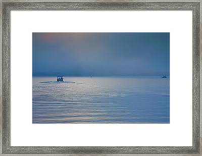 Into The Mist Framed Print by Steven Ainsworth