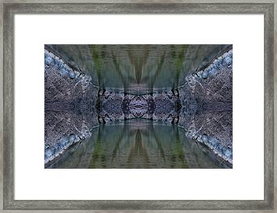 Into The Narrows Framed Print by Ed Kelley