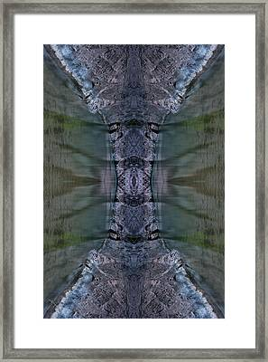 Into The Narrows Vertical Sample Framed Print by Ed Kelley