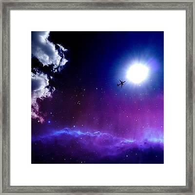 Into The Nebula Framed Print