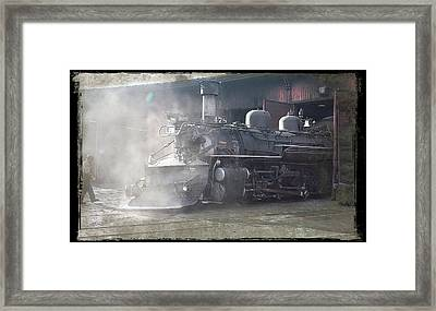 Into The Shed Framed Print by Larry McManus