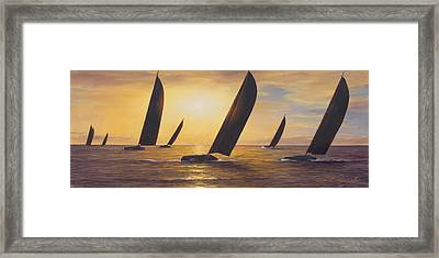 Into The Sunset - Panoramic  Framed Print by Diane Romanello